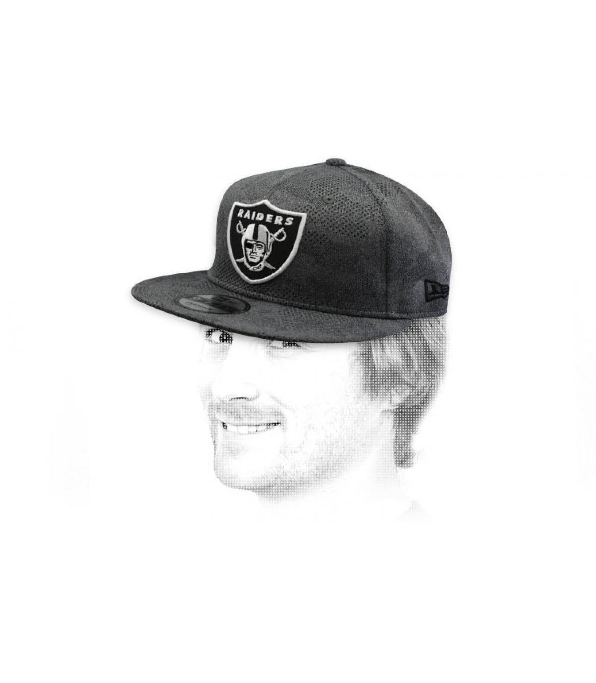 snapback Raiders gris noir