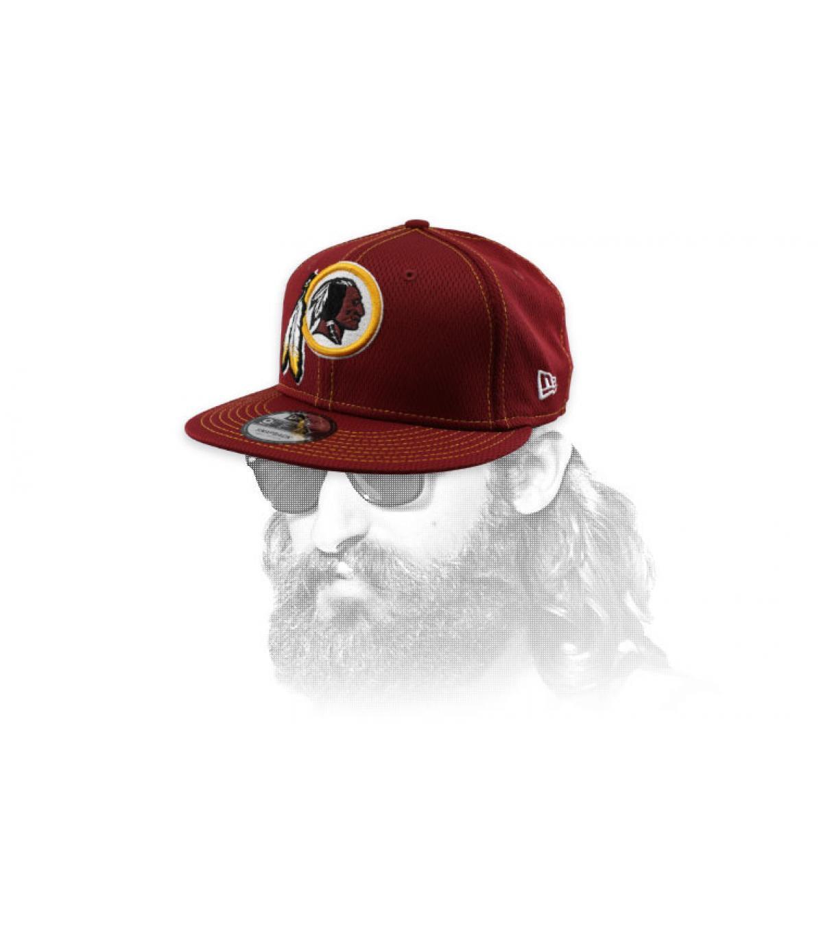 casquette Redskins bordeaux