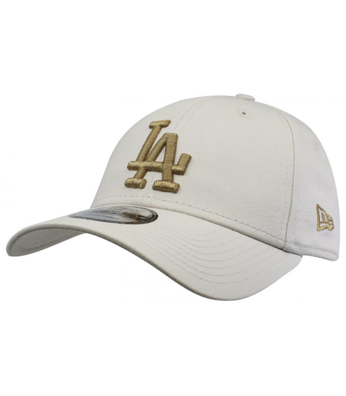 casquette LA blanc beige