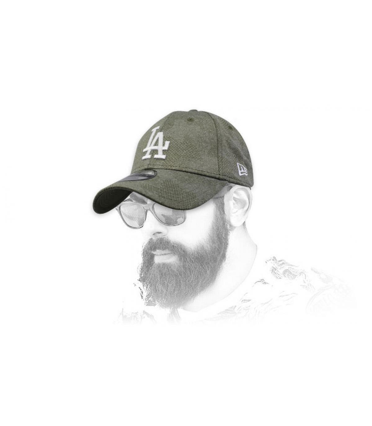 casquette LA vert blanc