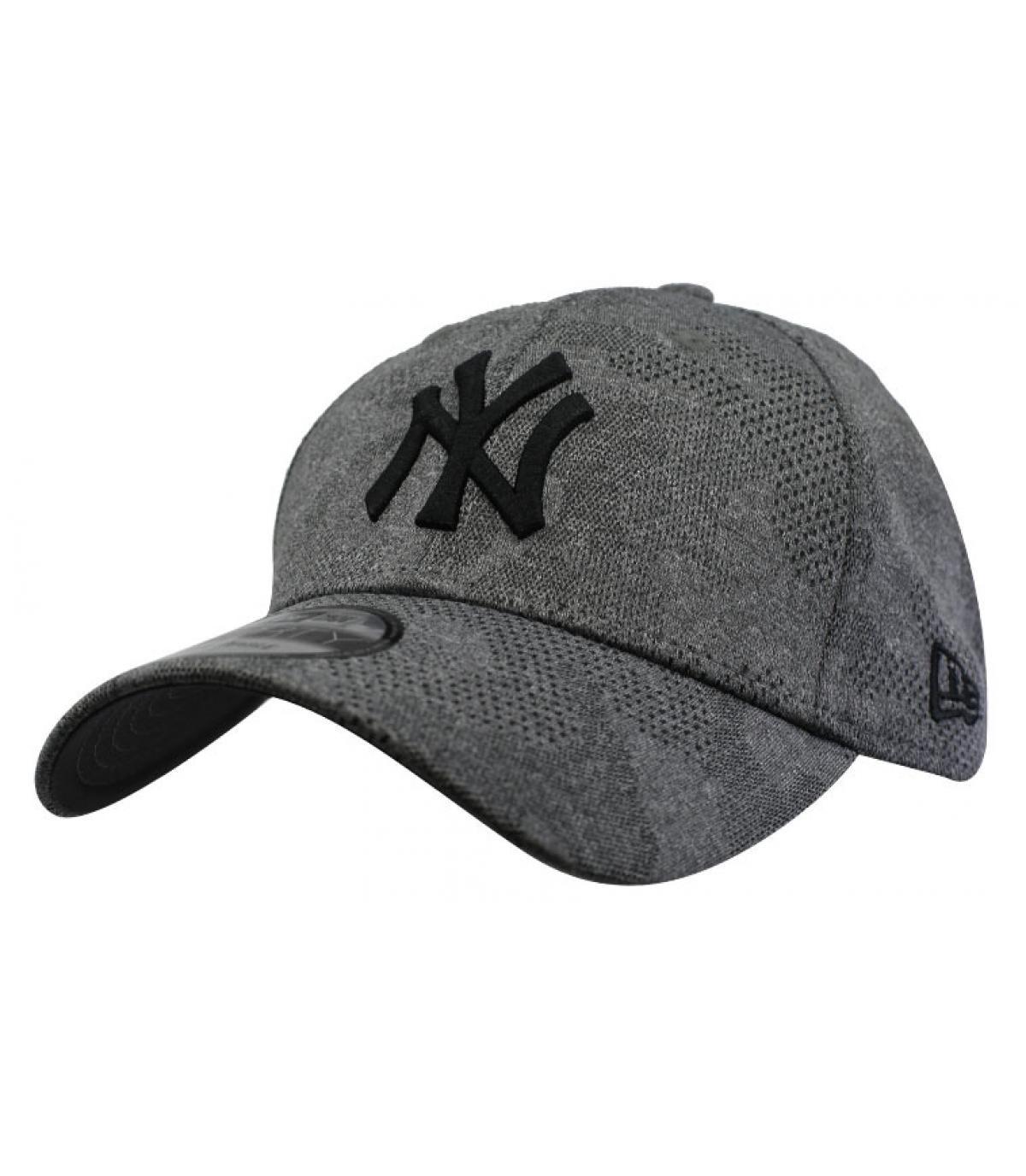 casquette NY gris chiné