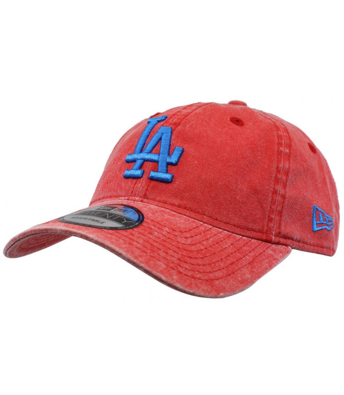 casquette LA rouge bleu