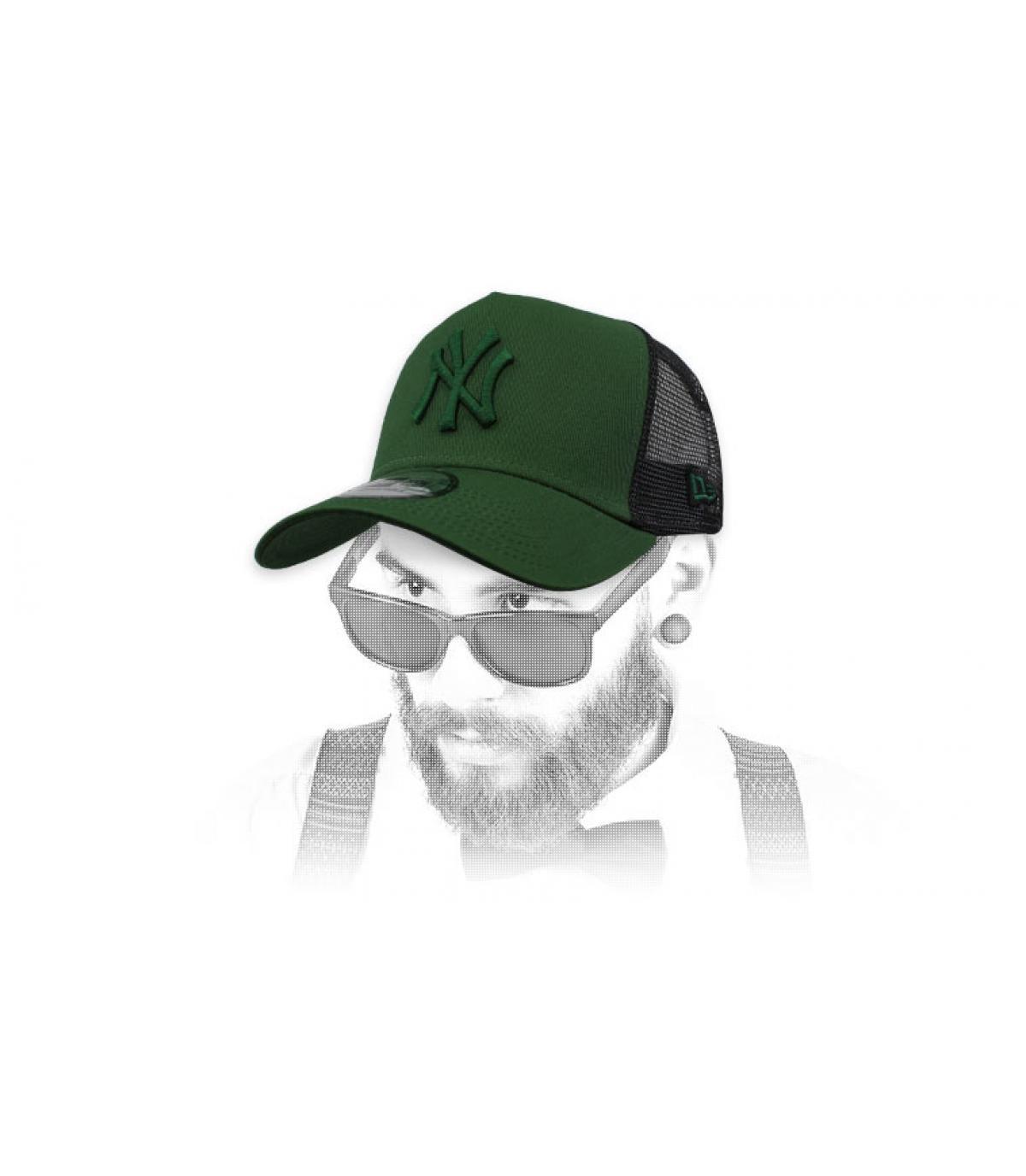 trucker NY vert noir