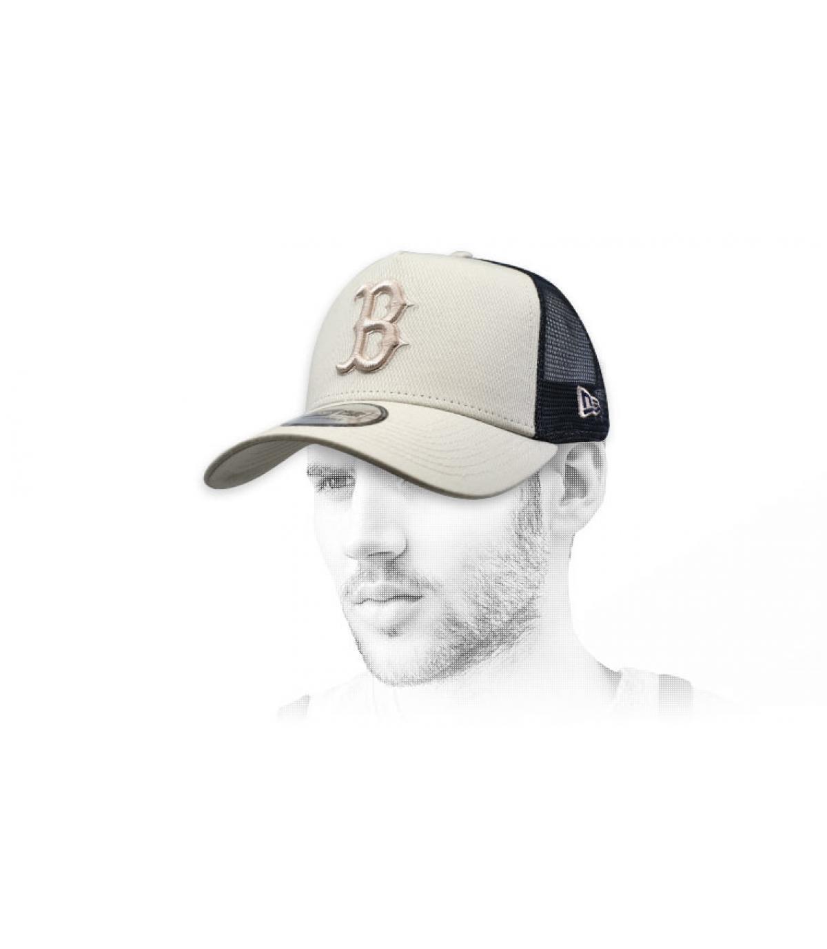 trucker B beige noir