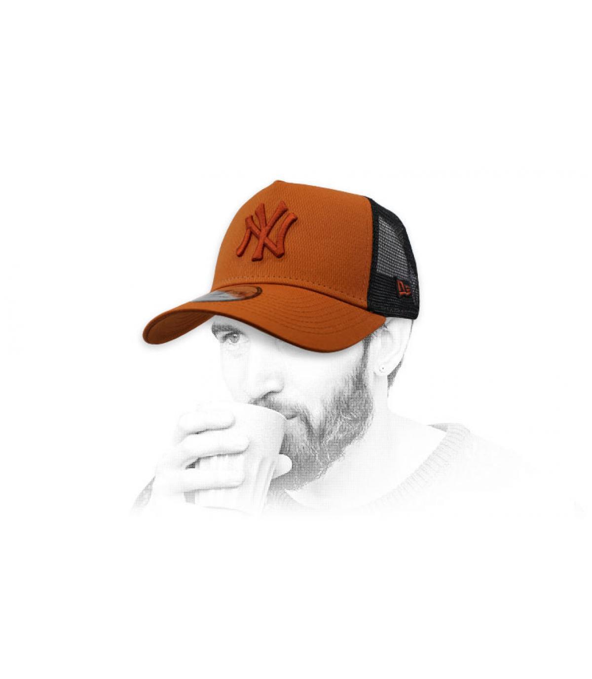 trucker NY marron noir