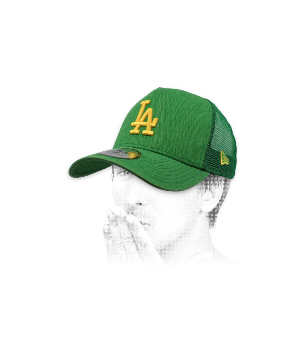 trucker LA vert jaune