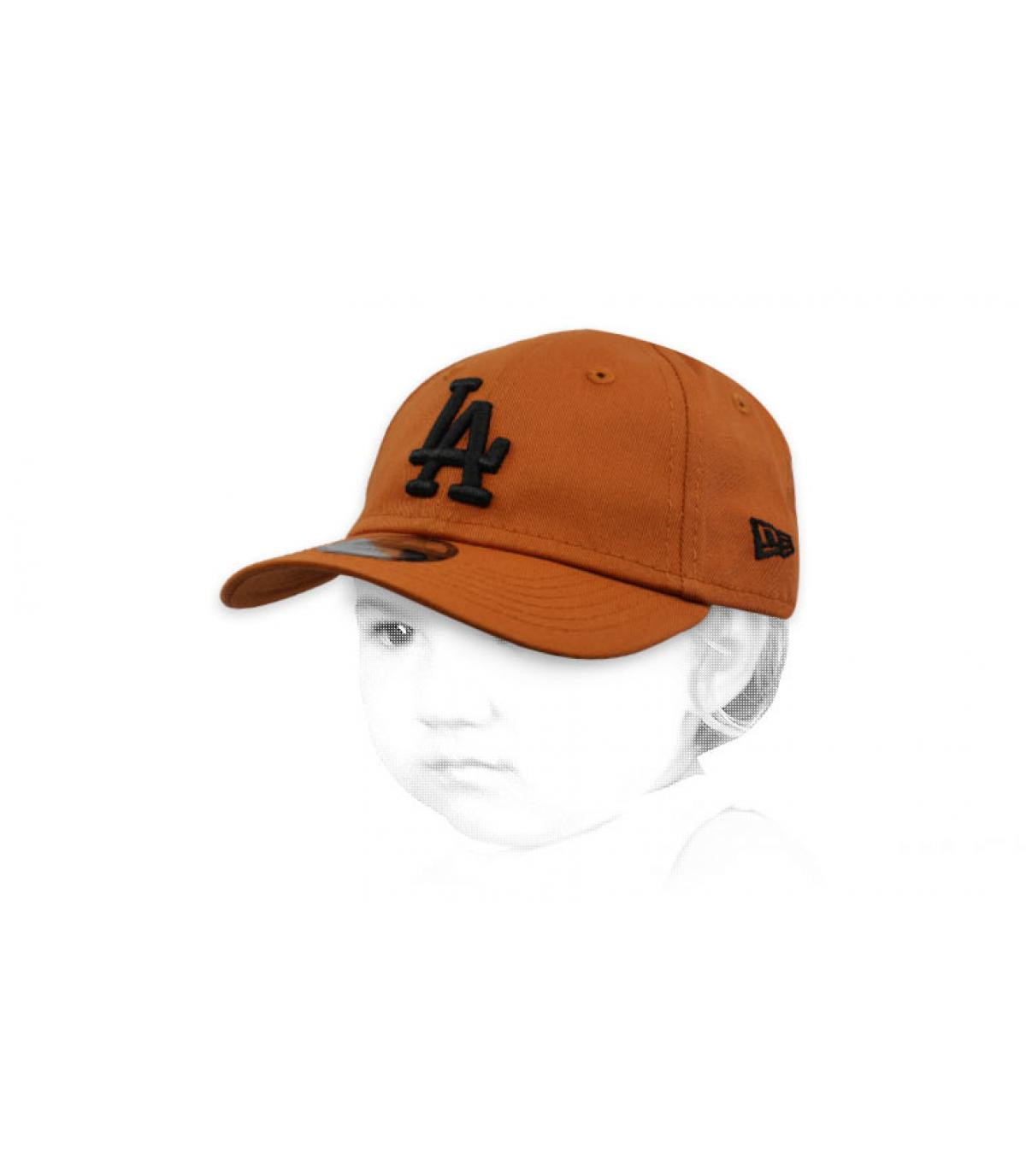 casquette bébé LA marron