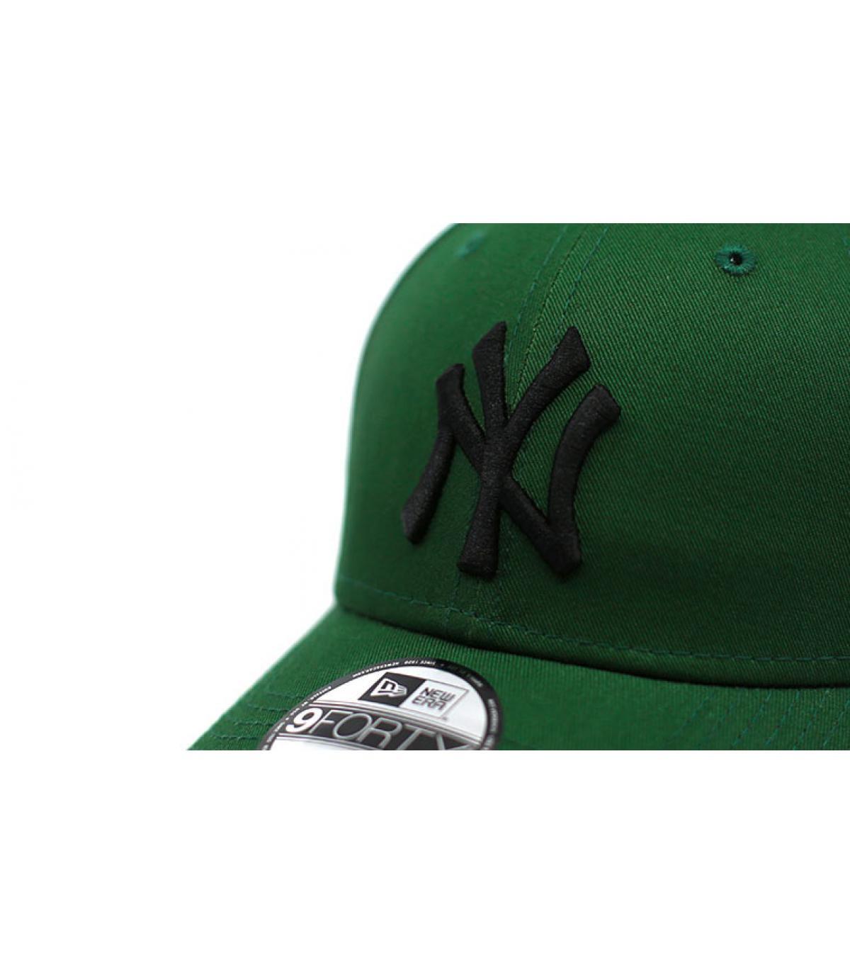 Détails Casquette Enfant League Ess NY green black - image 3