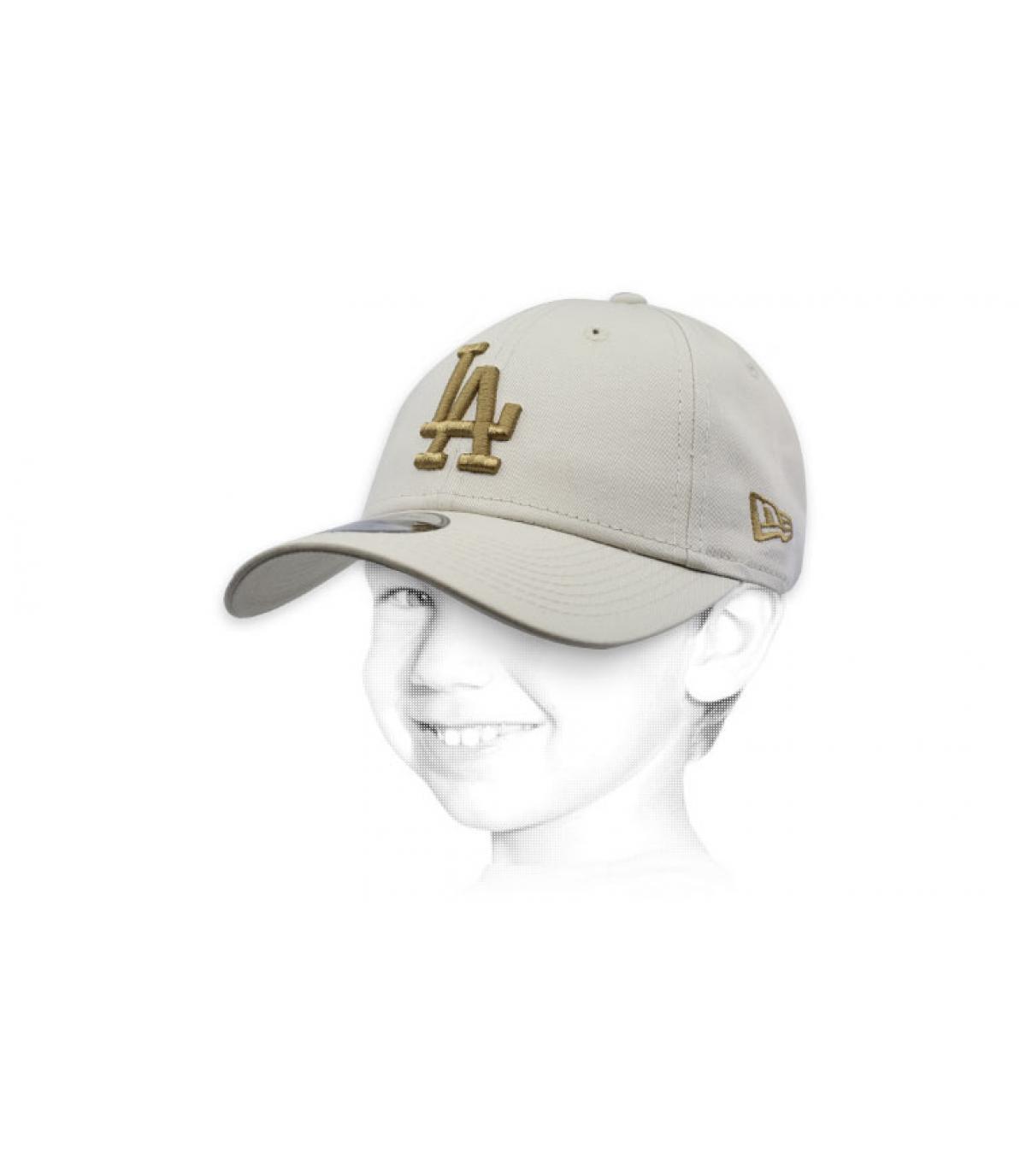 casquette enfant beige LA