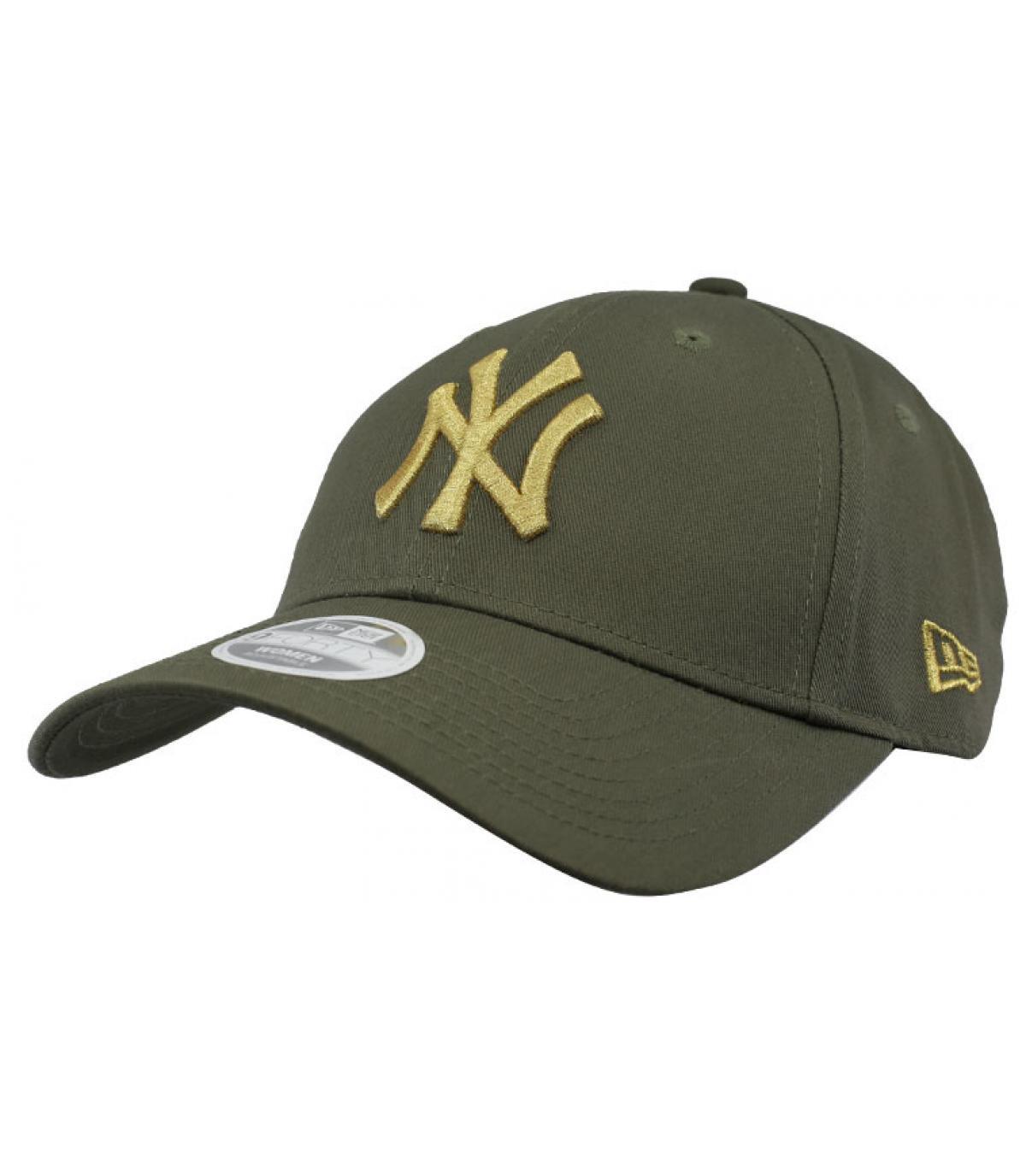 casquette NY enfant vert or