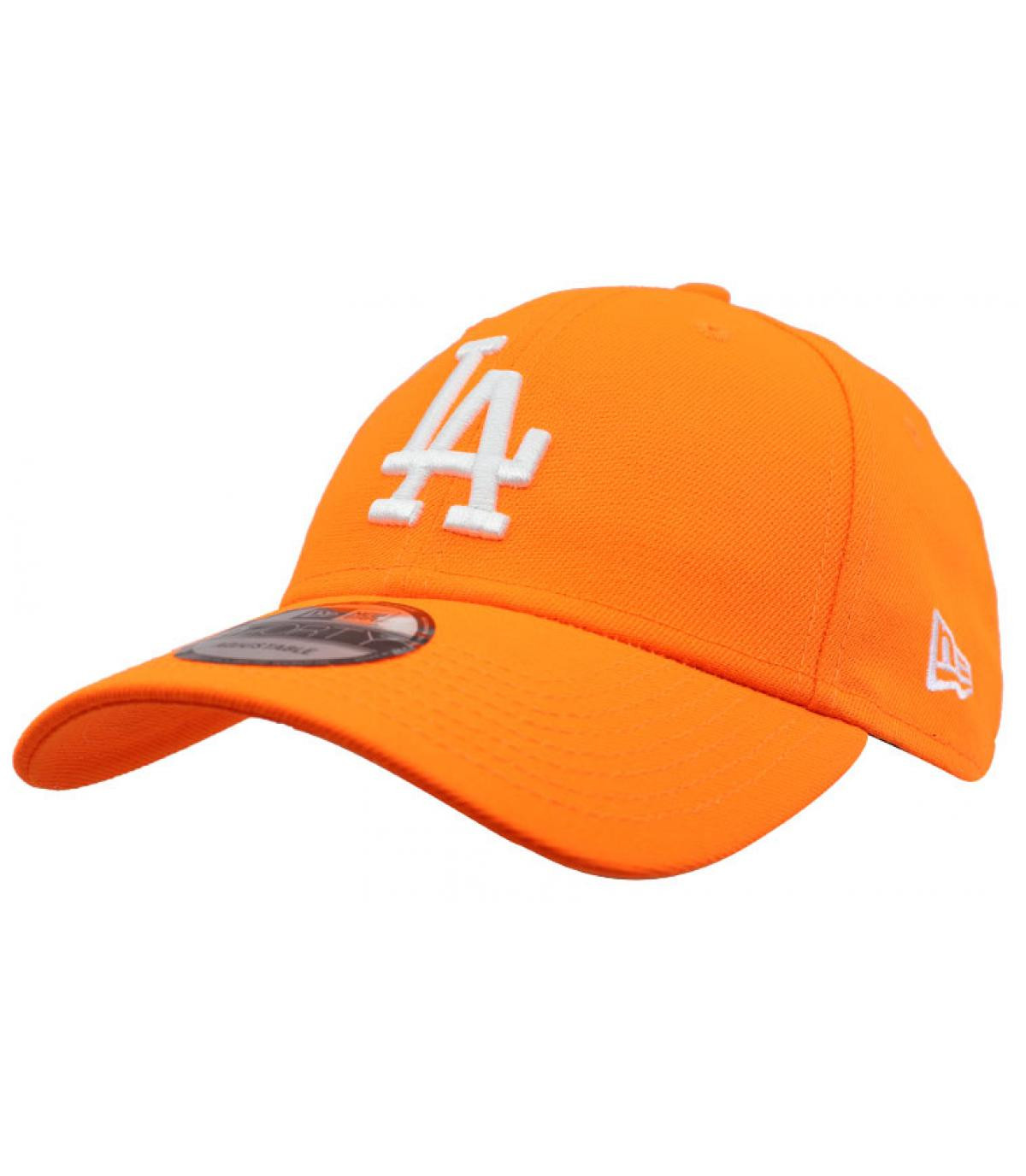 casquette LA orange fluo