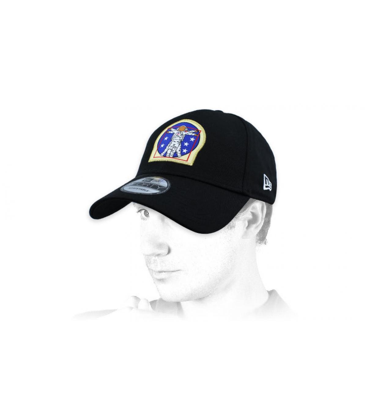 casquette cosmonaute noir