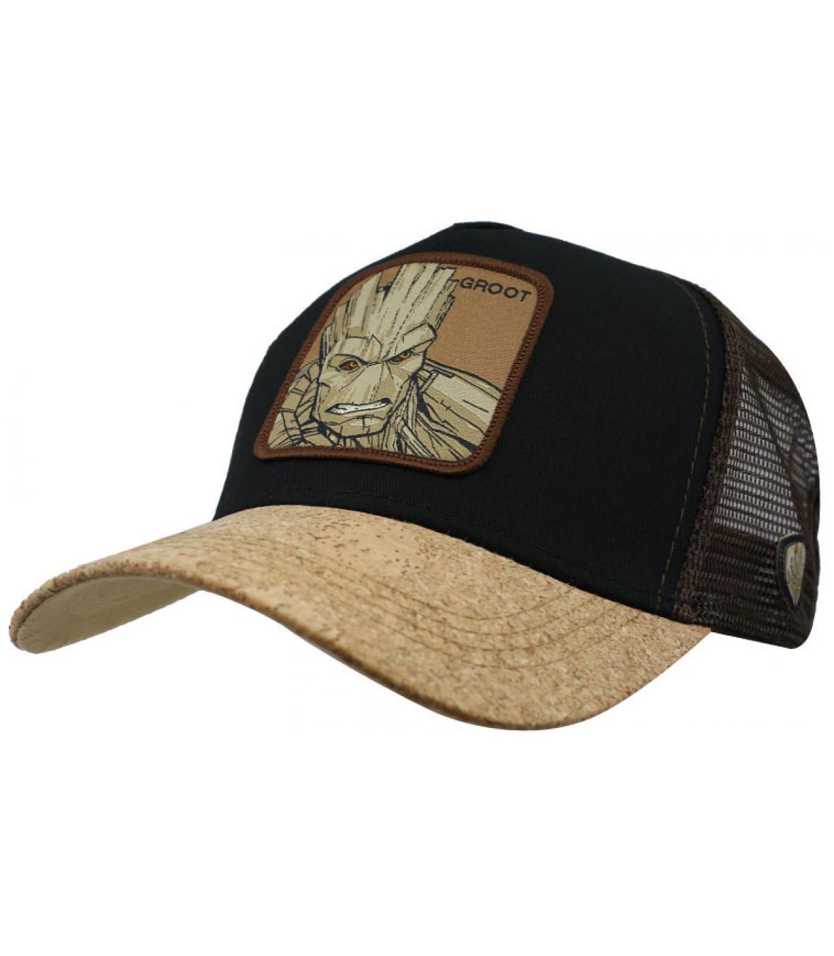 trucker Groot noir beige