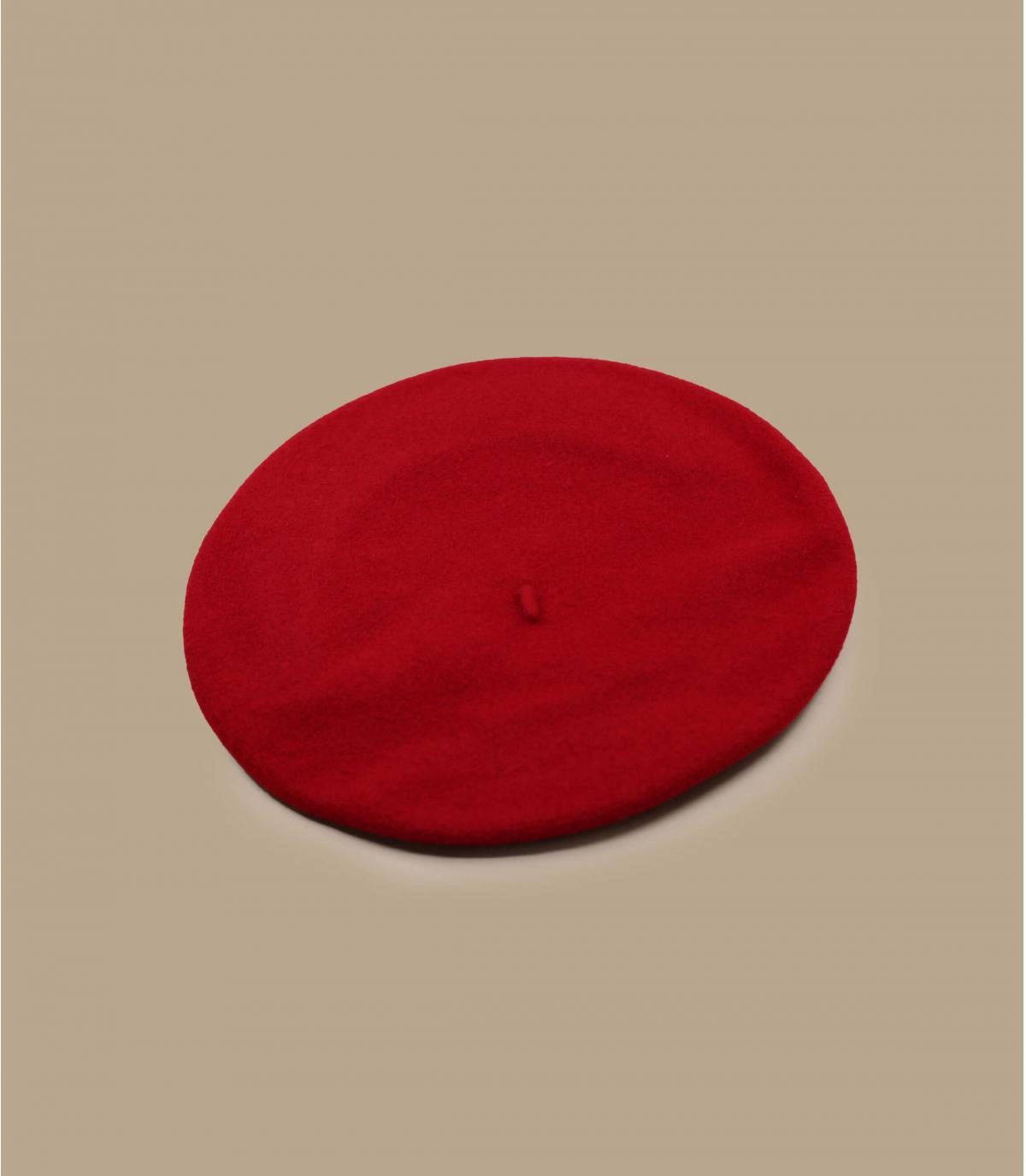 béret gavroche rouge laine