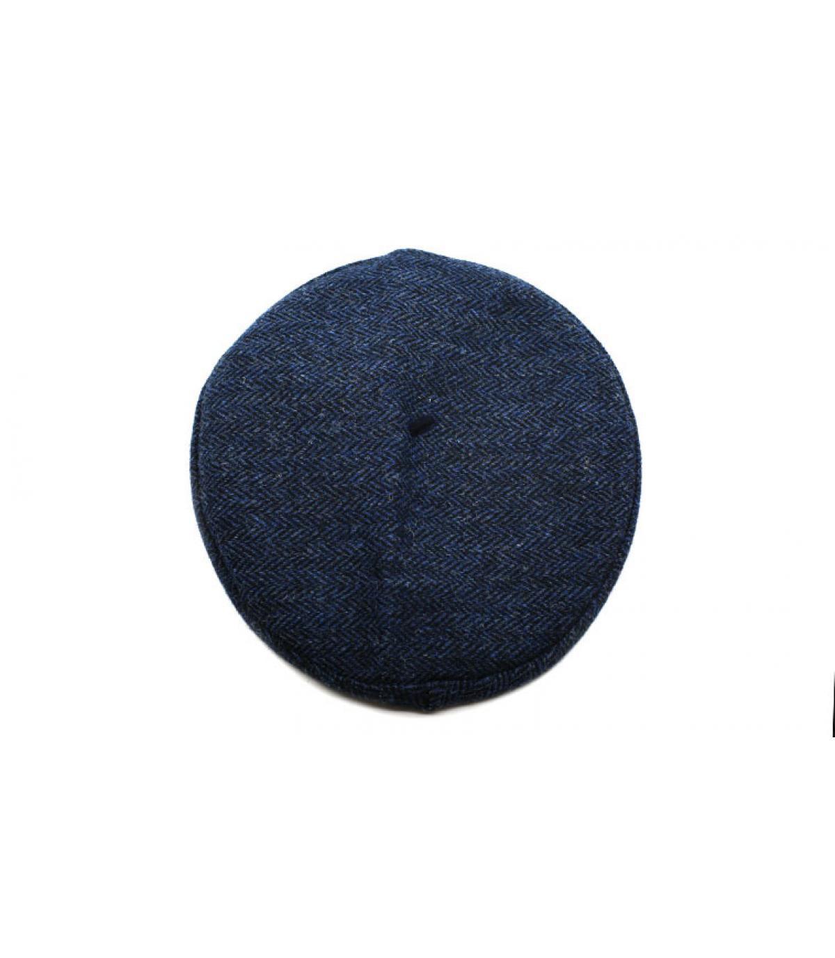 béret bleu tweed
