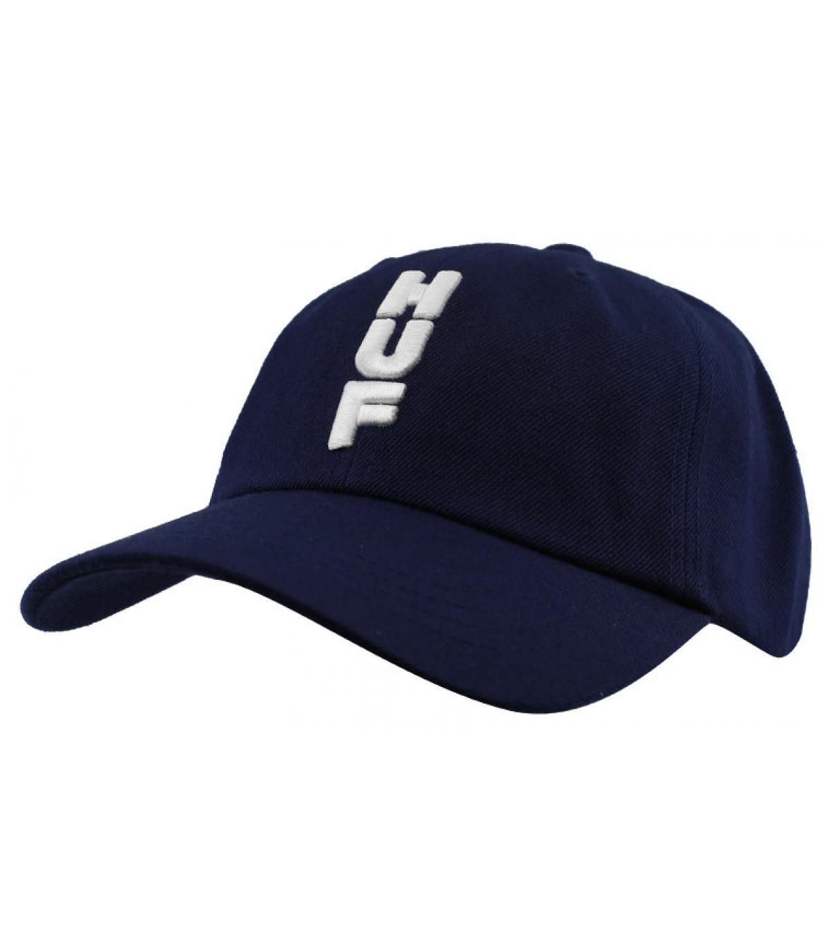 casquette Huf bleu blanc