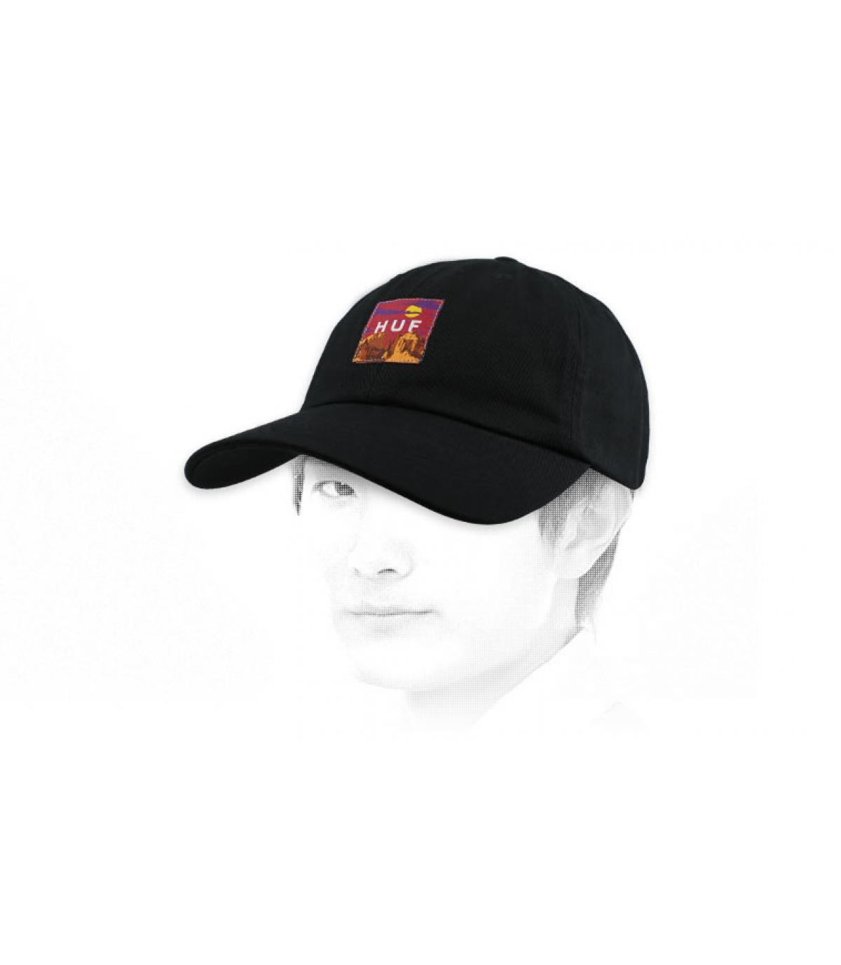 casquette Huf noir patch