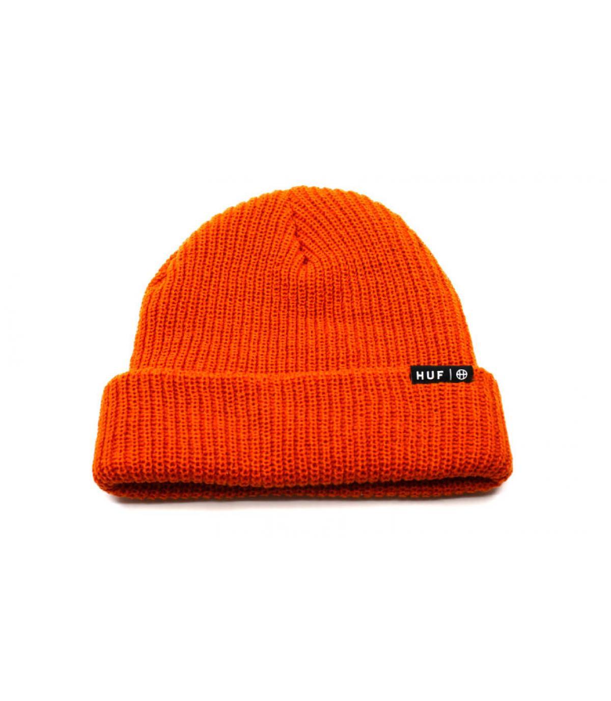 Bonnet revers orange Huf
