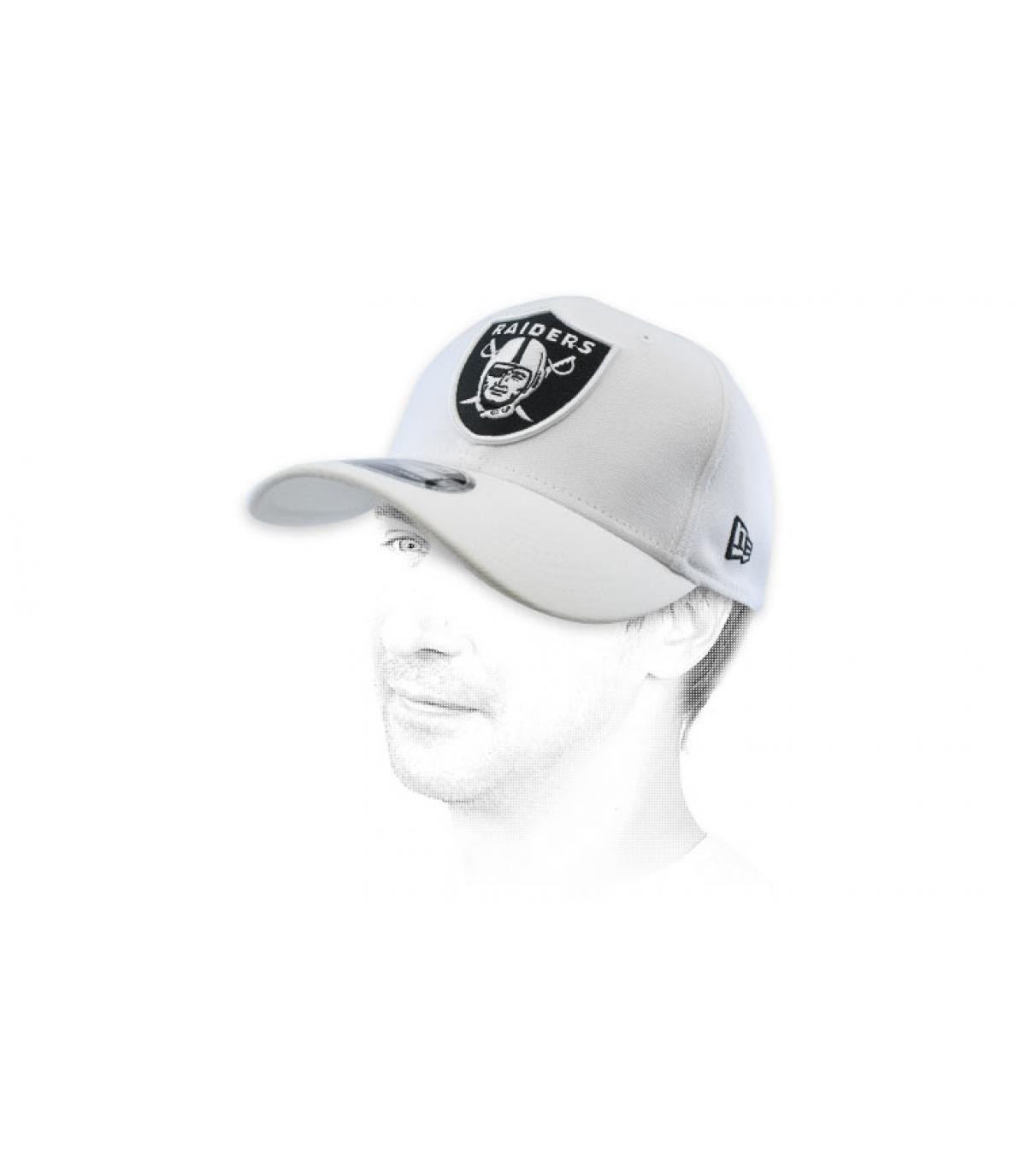 snapback Raiders blanc