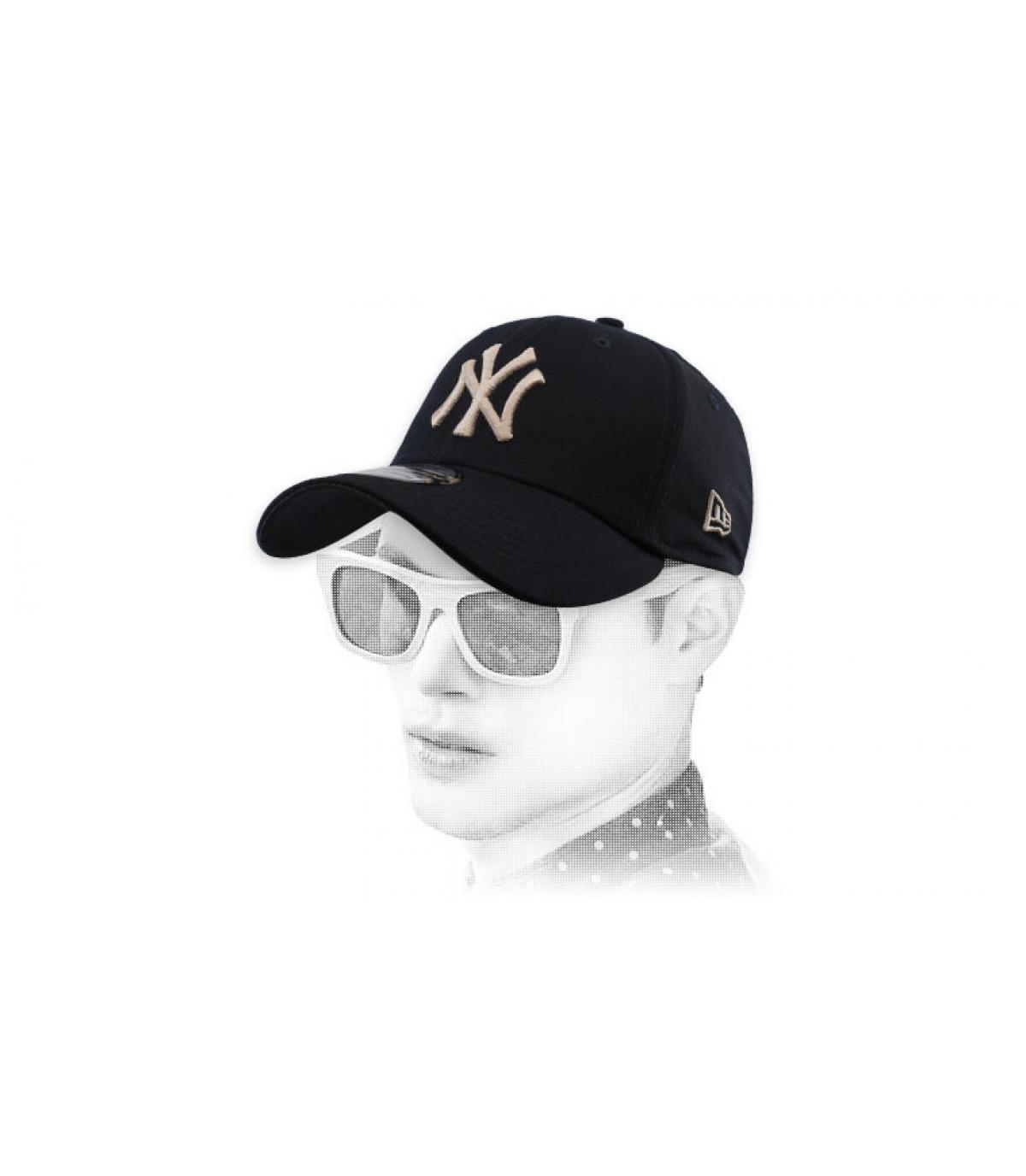 casquette NY noir stretch