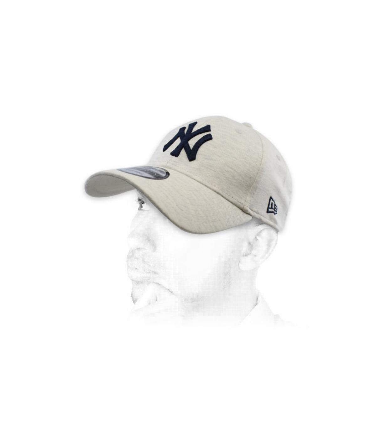 casquette NY gris bleu