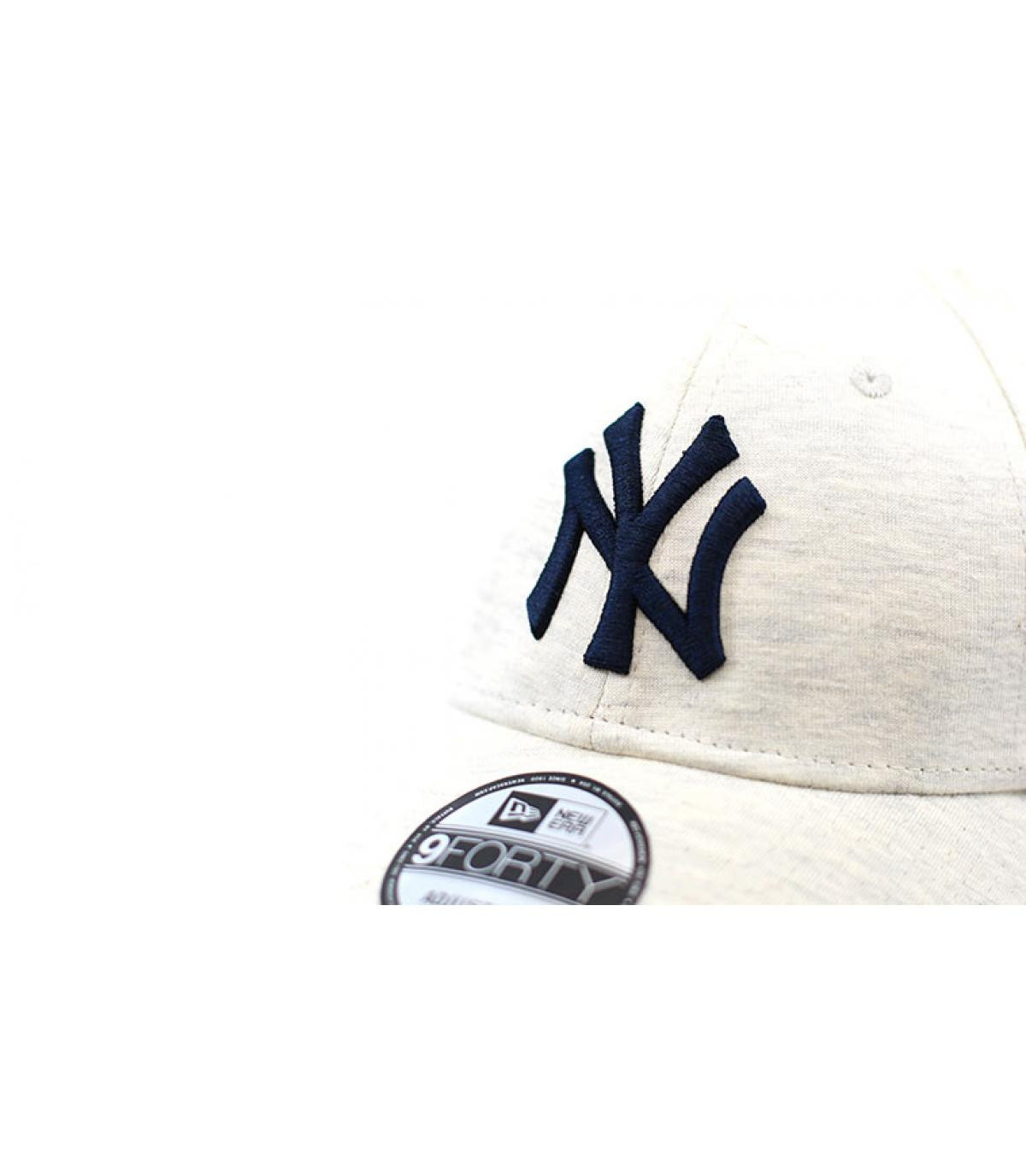 Détails Casquette Jersey Ess NY 940 white gray navy - image 3