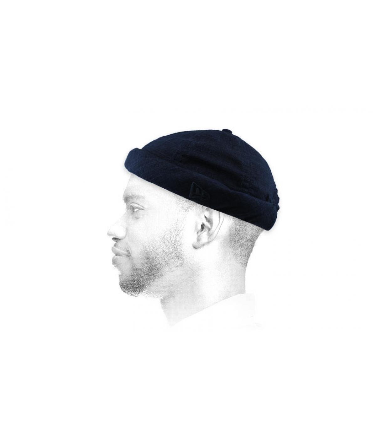 bonnet docker bleu marine