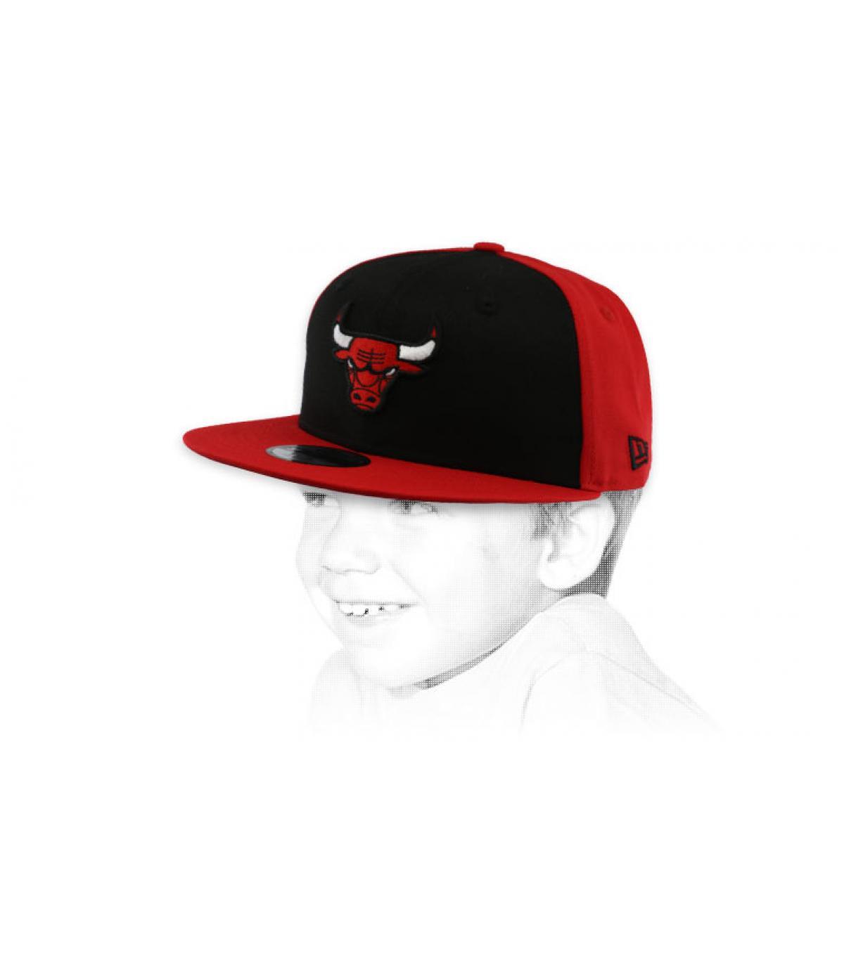 snapback Bulls rouge noir