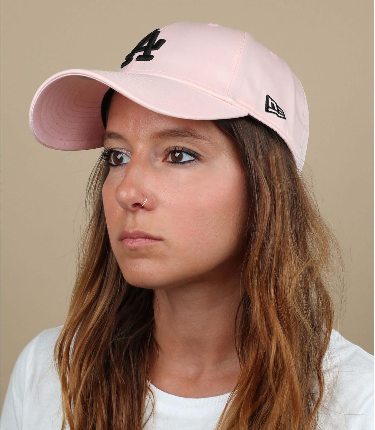 casquette femme LA rose