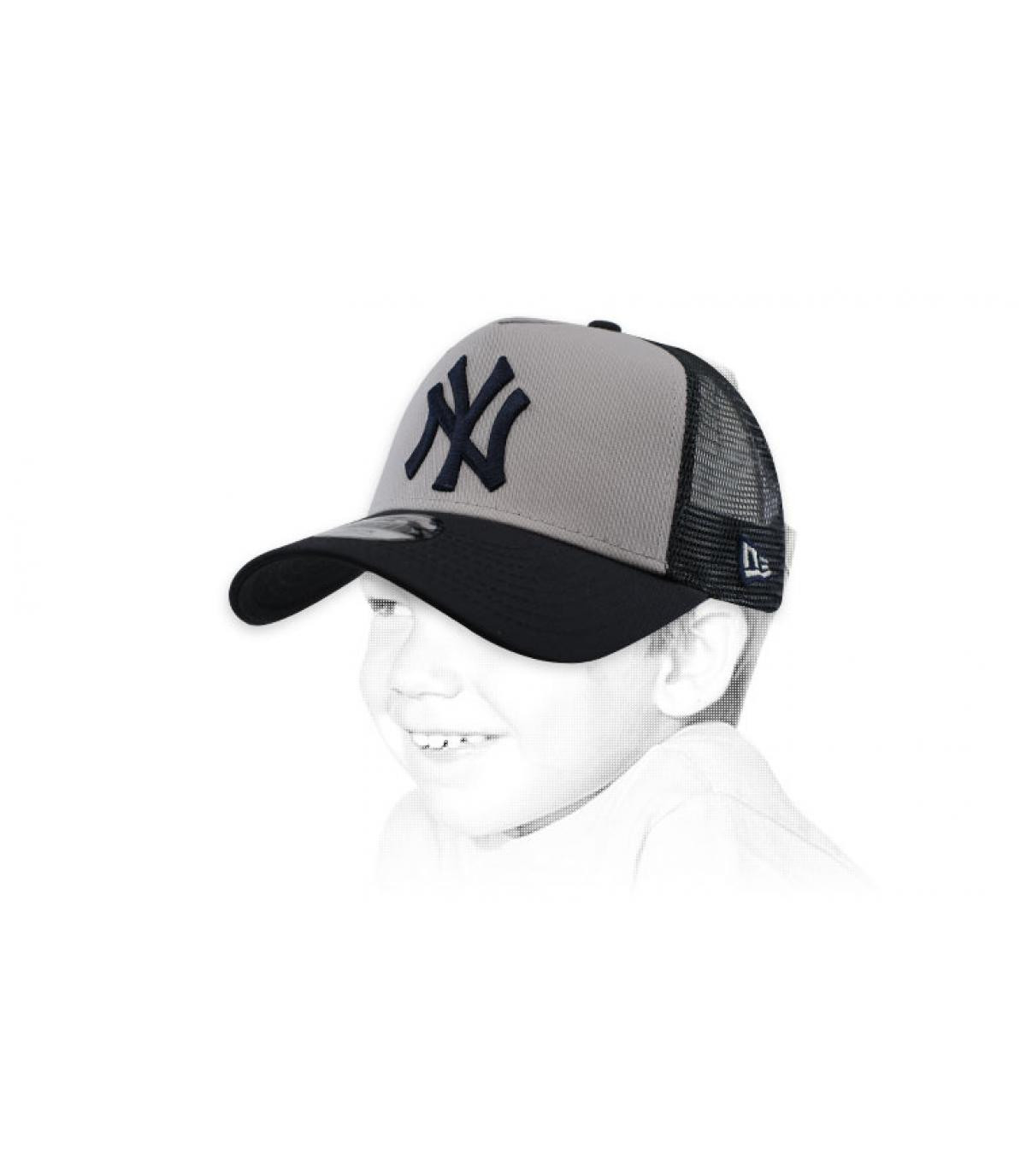 trucker enfant NY gris blanc
