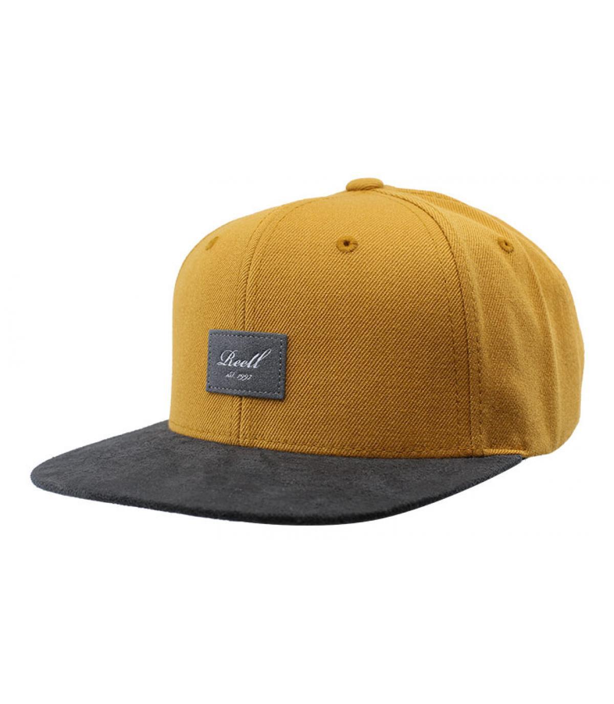 Détails Suede Cap Yellow brown - image 2