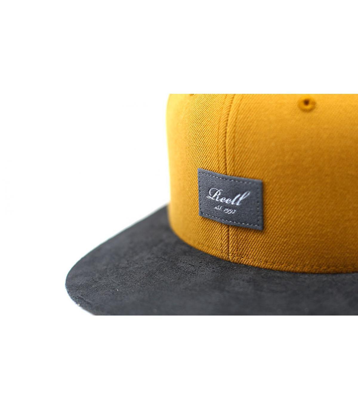 Détails Suede Cap Yellow brown - image 3