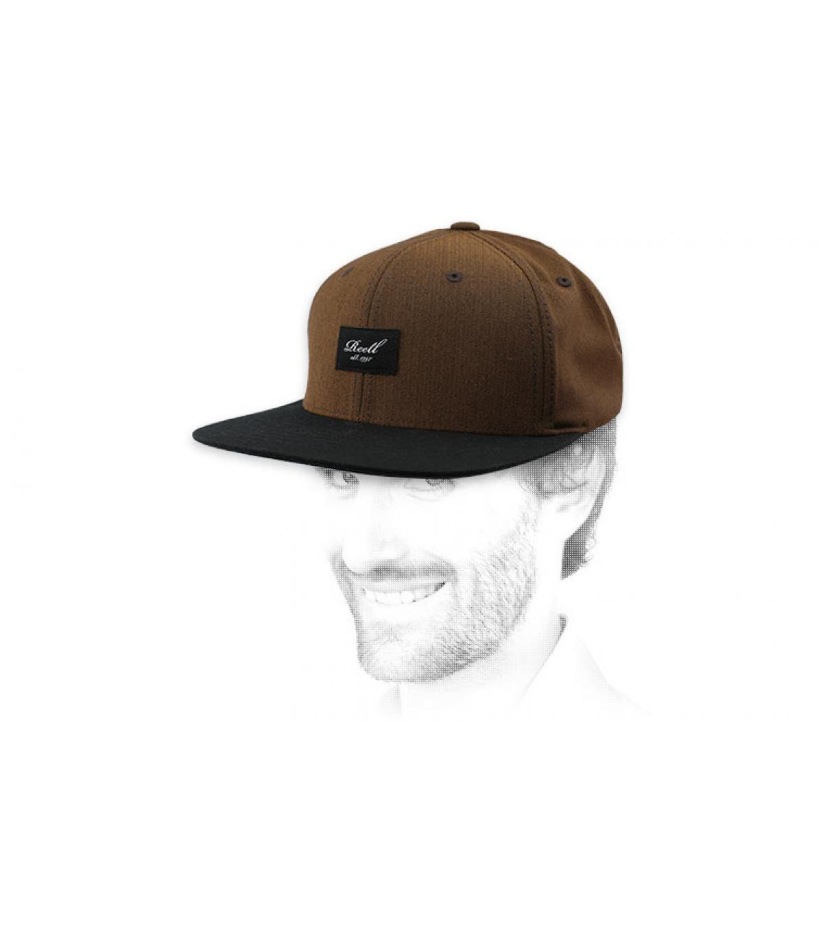 snapback brun noir Reell