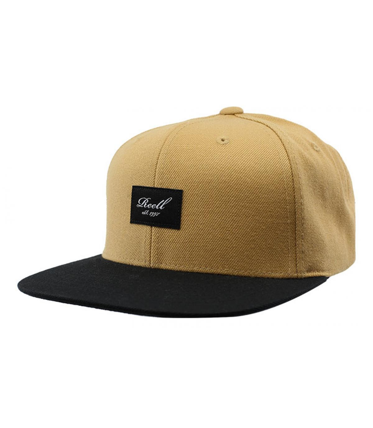 snapback beige noir