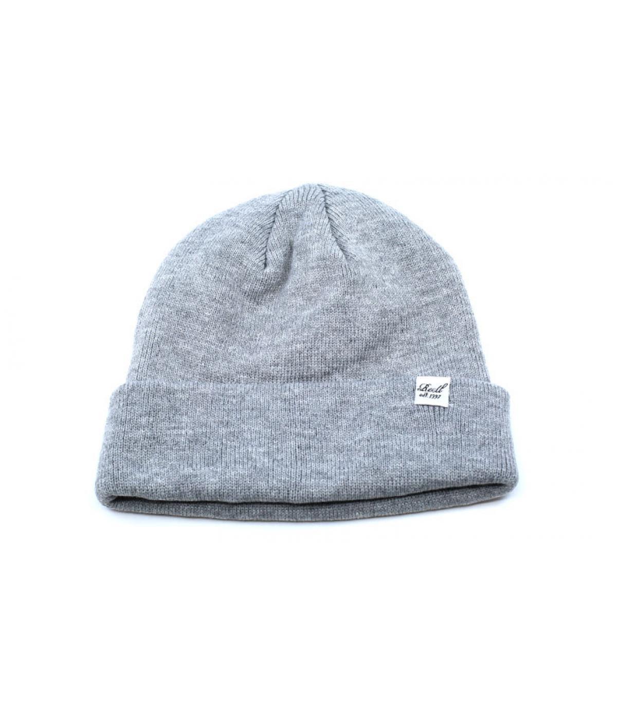 bonnet revers gris chiné