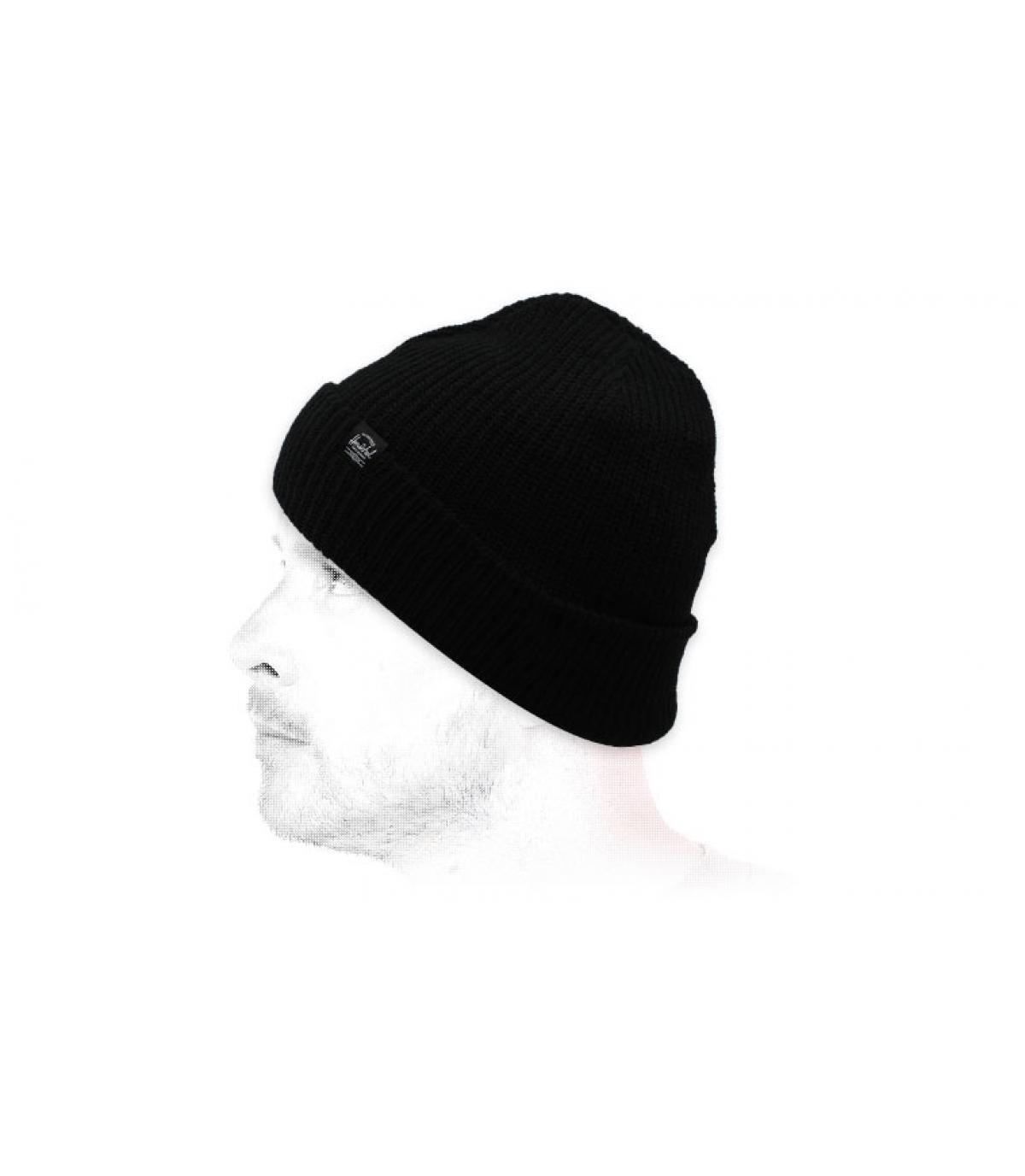 bonnet revers noir Herschel