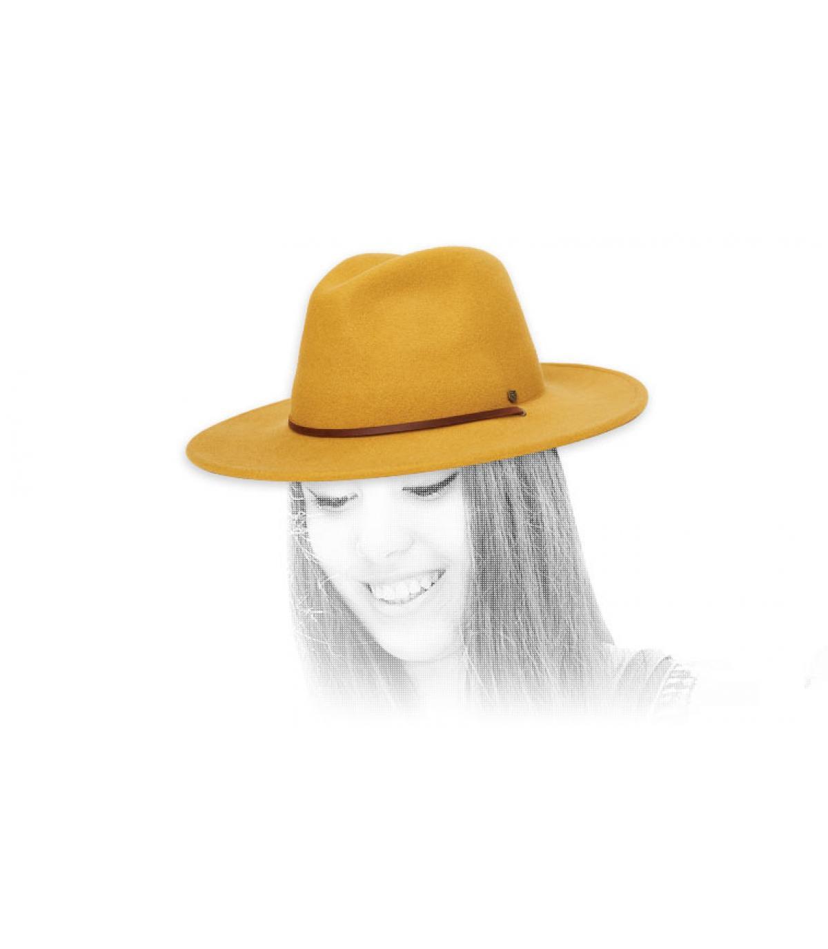 fedora jaune Brixton