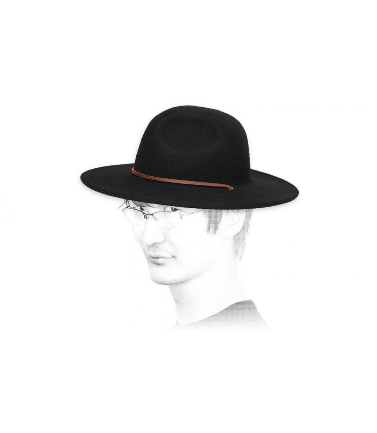 chapeau feutre noir Brixton