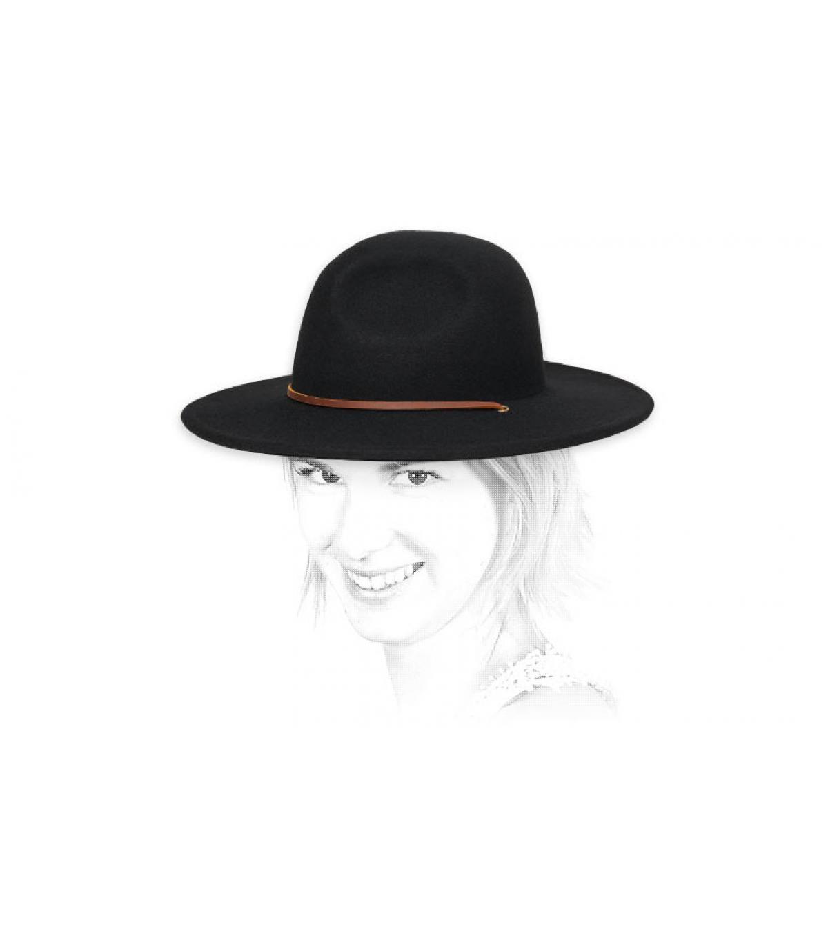 chapeau femme noir feutre