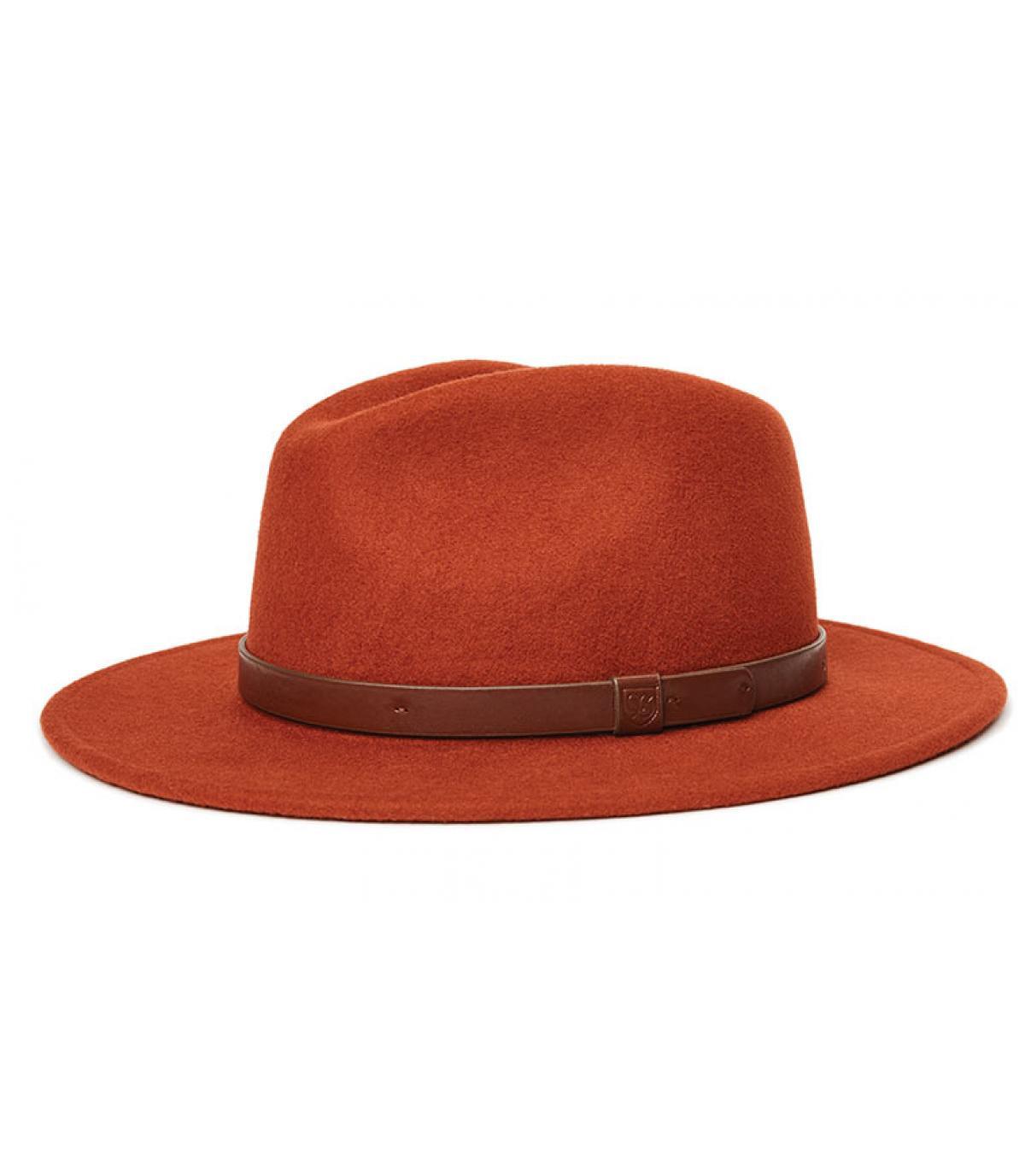 chapeau feutre rouge