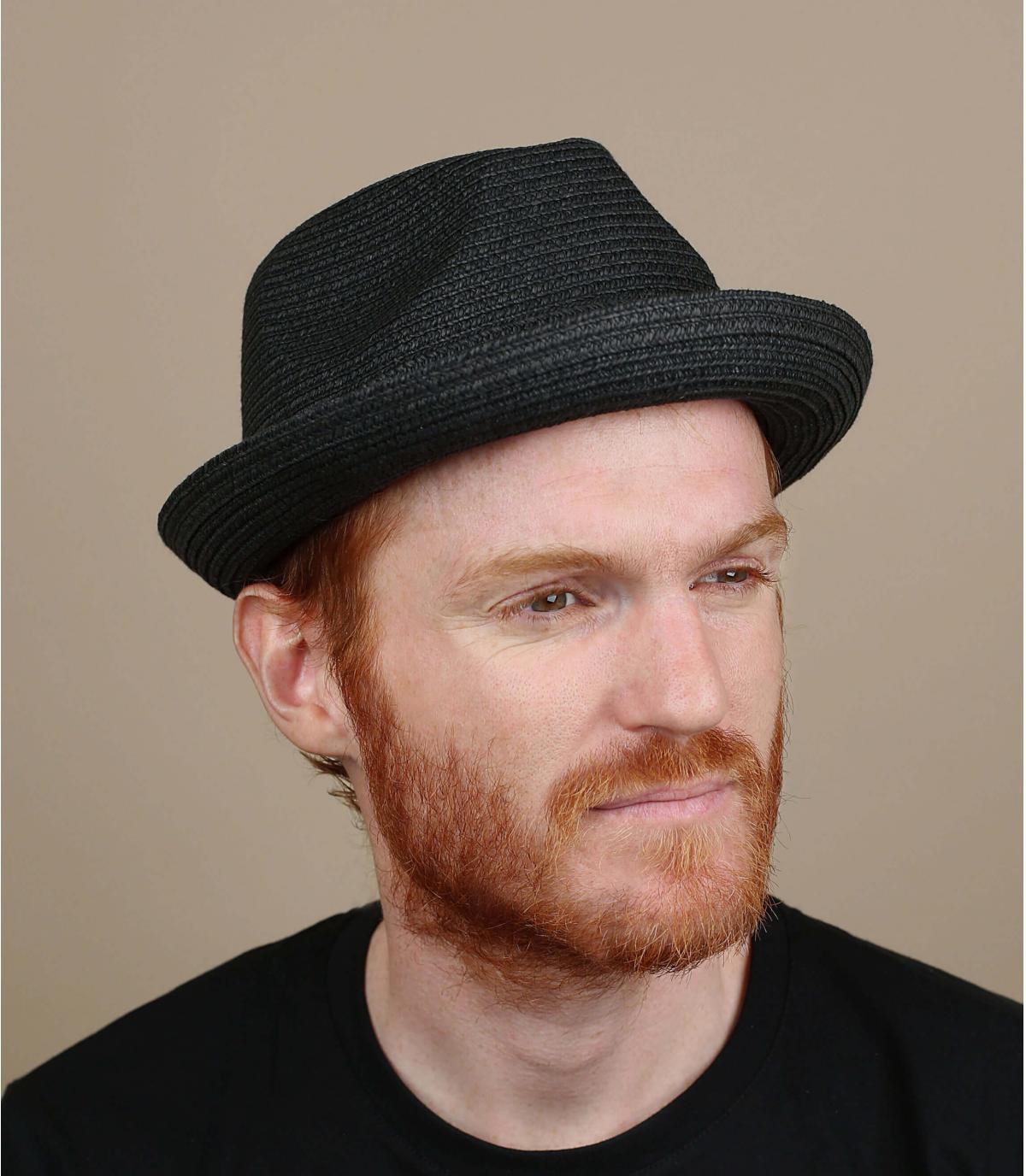 Chapeau Bailey paille noir