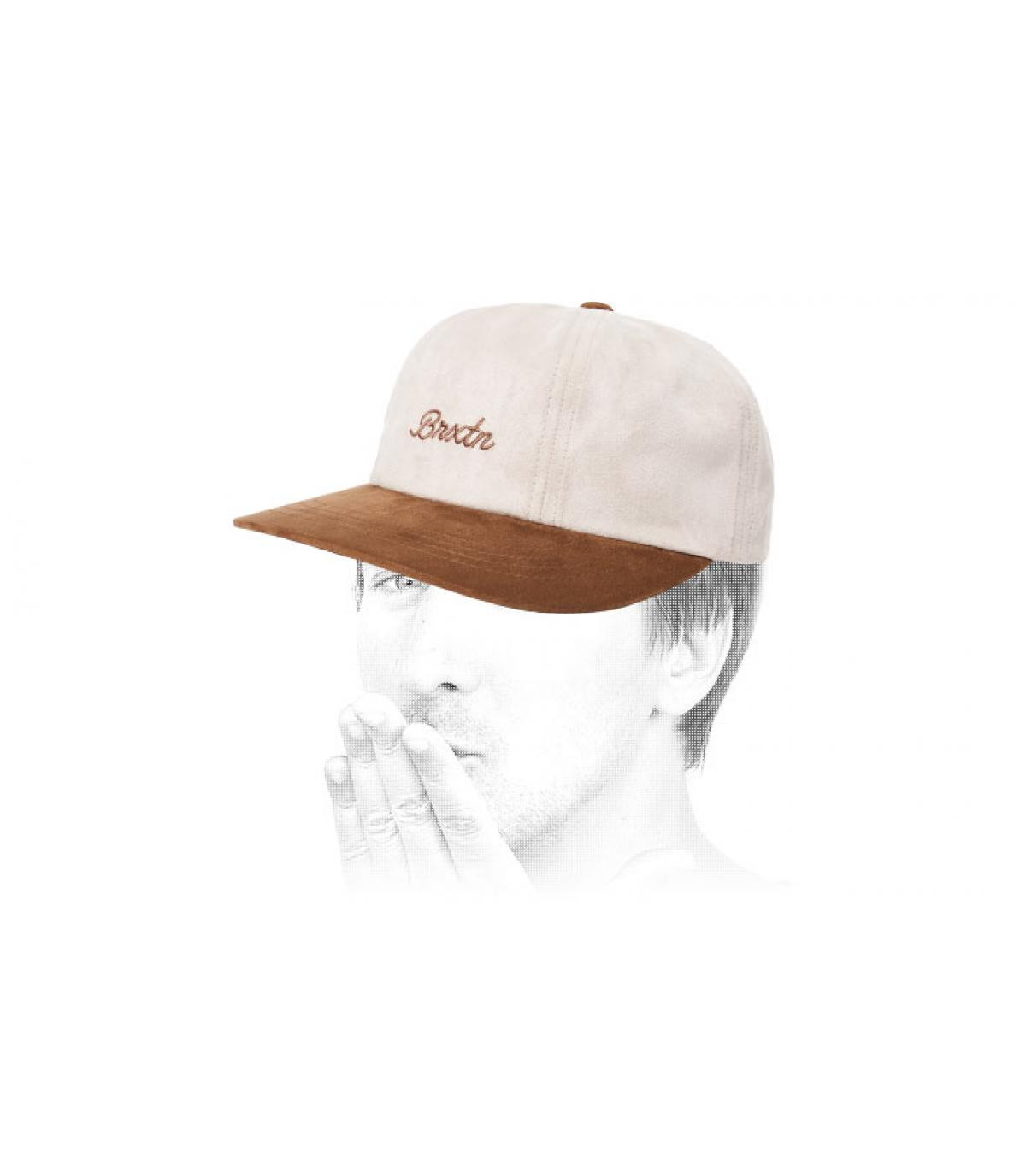 casquette blanc beige