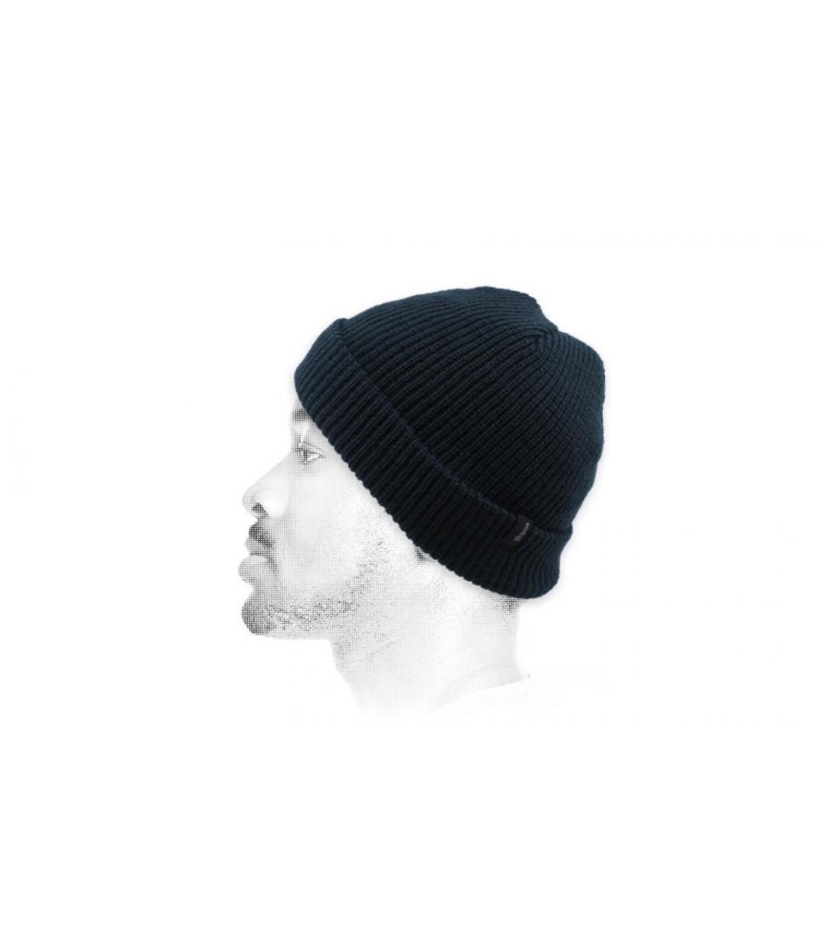 bonnet revers bleu Brixton