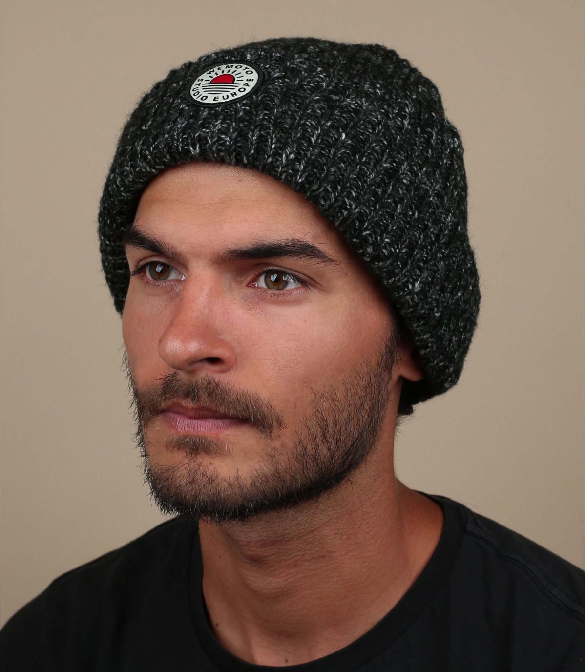 bonnet docker noir chiné Wemoto