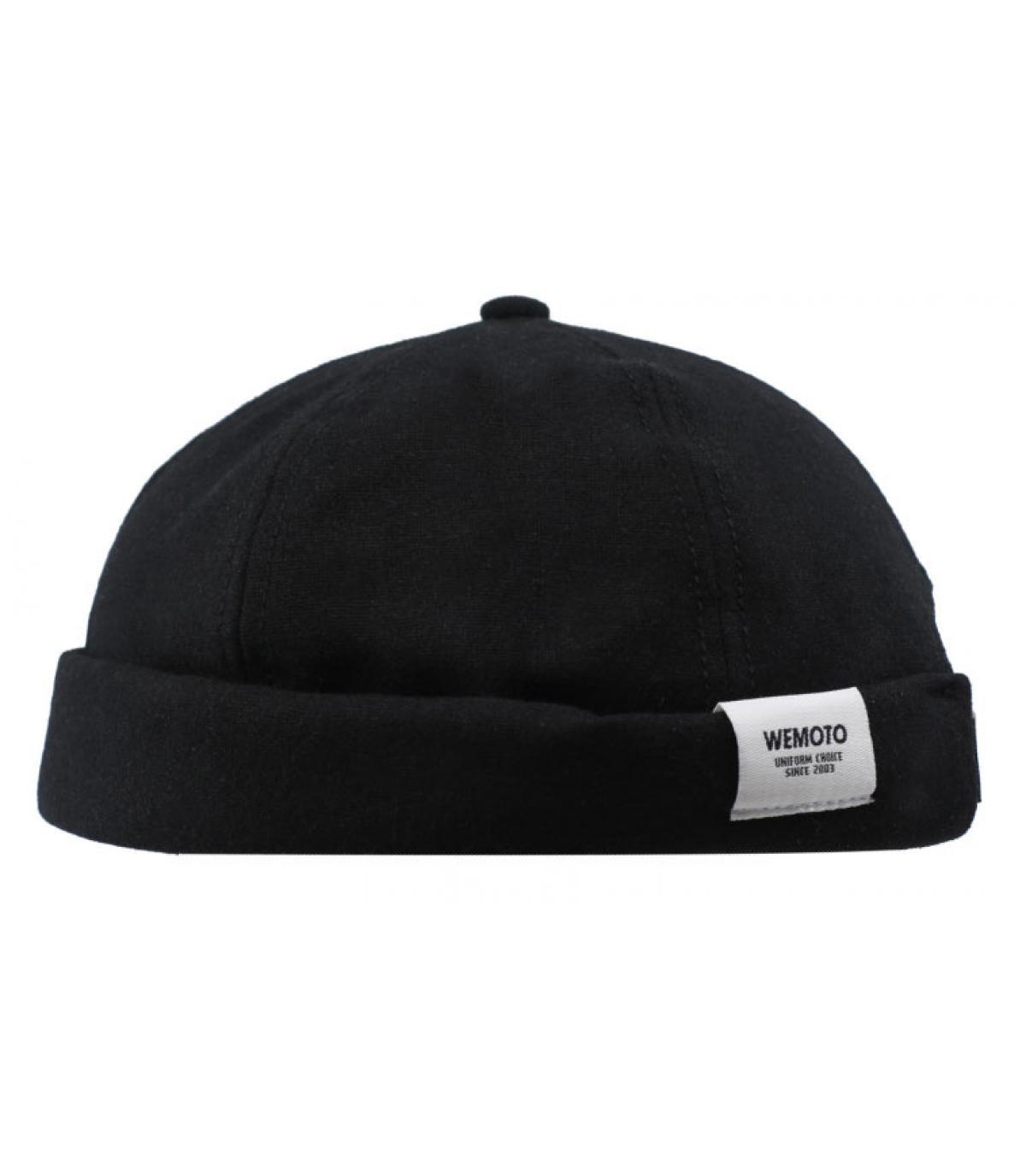 bonnet docker noir Wemoto