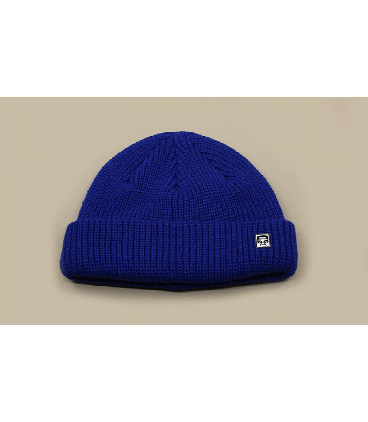 bonnet docker bleu Obey