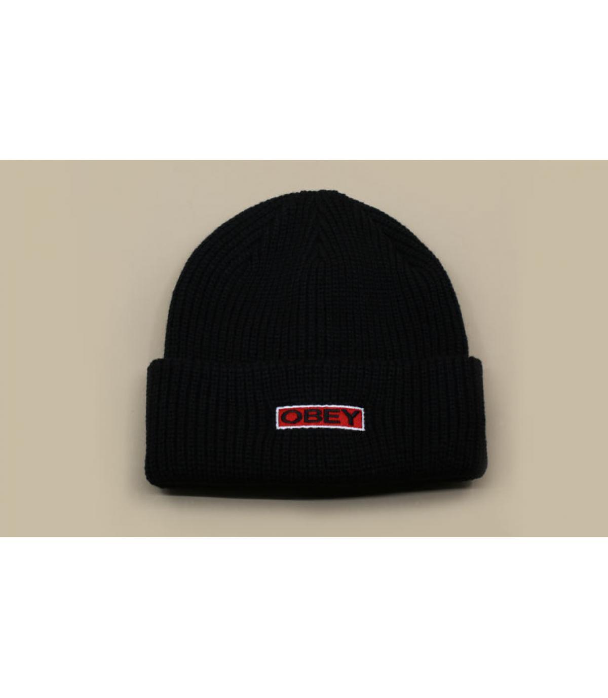 bonnet revers noir Obey