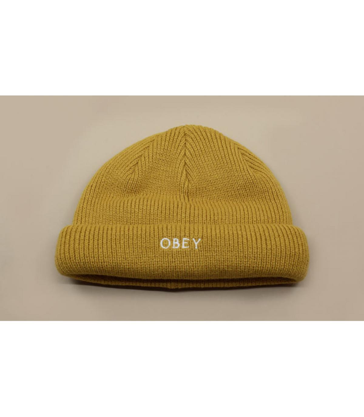 bonnet docker beige Obey
