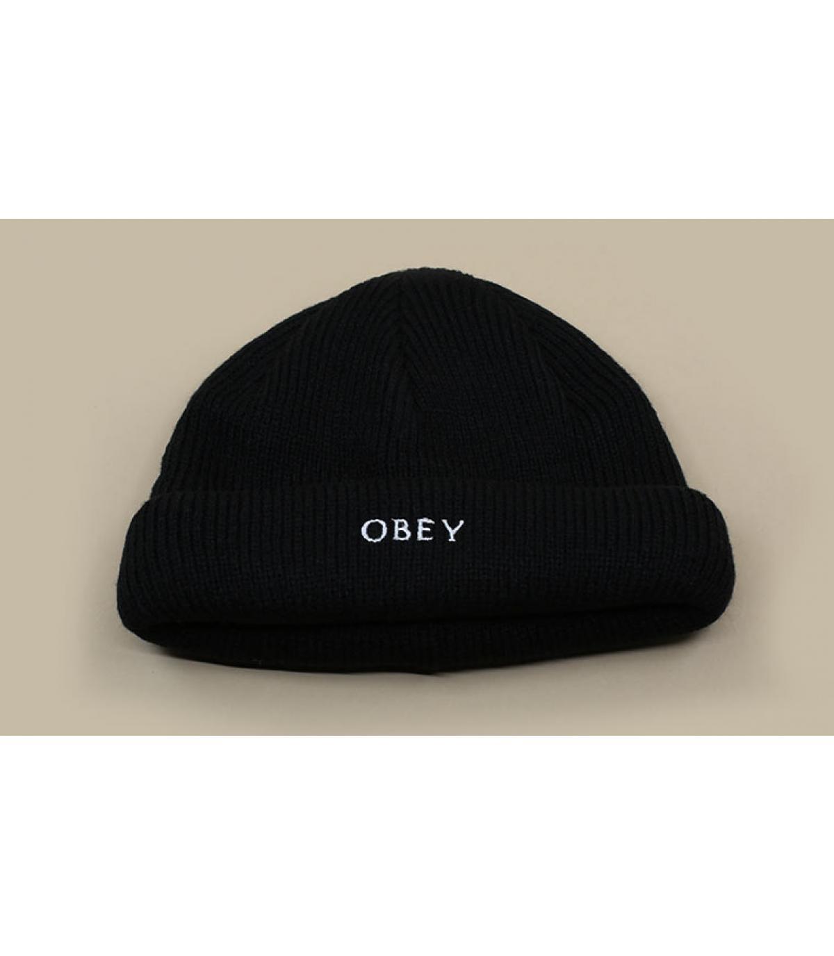 bonnet docker noir Obey