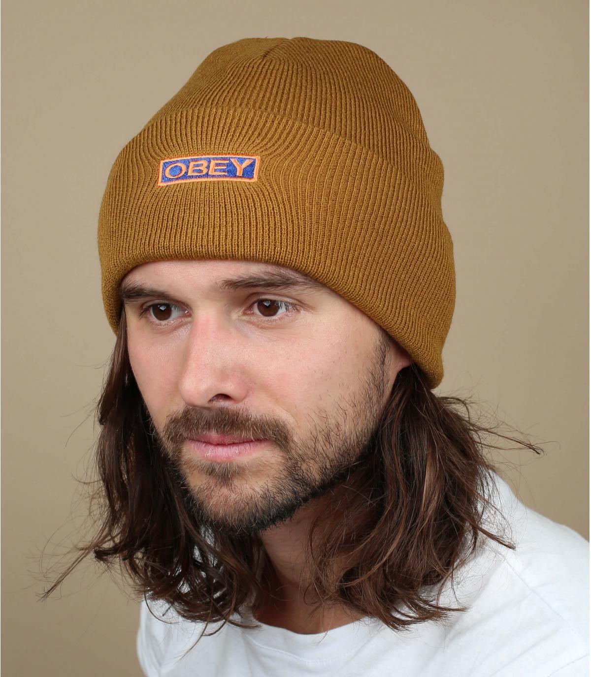 bonnet revers Obey marron